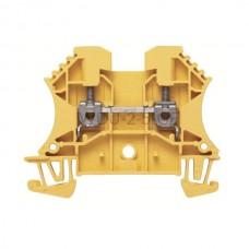 Złączka szynowa przelotowa WDU 2.5 GE Weidmuller żółta 24A 800V 1020020000