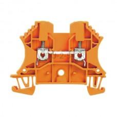 Złączka szynowa przelotowa WDU 2.5 OR Weidmuller pomarańczowa 24A 800V 1020060000