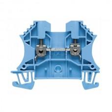 Złączka szynowa przelotowa WDU 2.5 BL Weidmuller niebieska 24A 800V 1020080000
