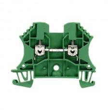 Złączka szynowa przelotowa WDU 2.5 GN Weidmuller zielona 24A 800V 1020090000