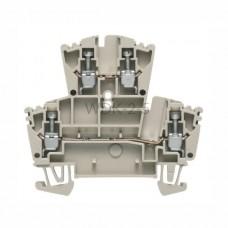 Złączka szynowa dwutorowa WDK 2.5 Weidmuller ciemnobeżowa 24A 400V 1021500000