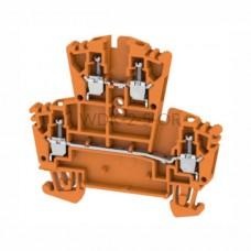 Złączka szynowa dwutorowa WDK 2.5 OR Weidmuller pomarańczowa 24A 400V 1021560000