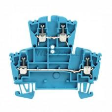 Złączka szynowa dwutorowa WDK 2.5 BL Weidmuller niebieska 24A 400V 1021580000