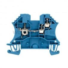 Złączka szynowa przelotowa WDU 2.5/1.5/ZR BL Weidmuller niebieska 24A 800V 1024780000