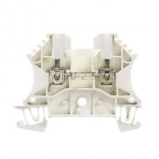 Złączka szynowa przelotowa WDU 2.5 WS Weidmuller biała 24A 800V 1036800000