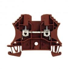 Złączka szynowa przelotowa WDU 2.5 BR Weidmuller brązowa 24A 800V 1037710000