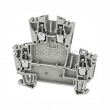 Złączka szynowa dwutorowa WDK 2.5 ZQV GR Weidmuller szara 24A 400V 1067970000