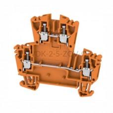 Złączka szynowa dwutorowa WDK 2.5 ZQV OR Weidmuller pomarańczowa 24A 400V 1067990000