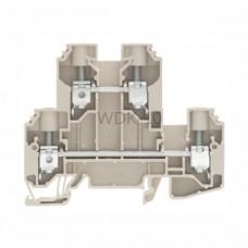 Złączka szynowa dwutorowa WDK 10 Weidmuller ciemnobeżowa 57A 800V 1186740000