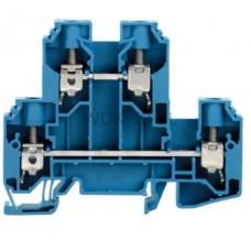 Złączka szynowa dwutorowa WDK 10 BL Weidmuller niebieska 57A 800V 1186750000