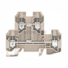 Złączka szynowa dwutorowa WDK 10 V Weidmuller ciemnobeżowa 57A 800V 1186770000