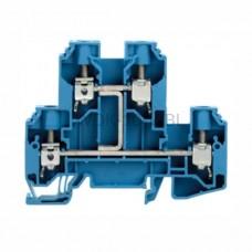 Złączka szynowa dwutorowa WDK 10 V-BL Weidmuller niebieska 57A 800V 1186780000