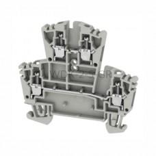 Złączka szynowa dwutorowa WDK 2.5 GR Weidmuller szara 24A 400V 1255280000