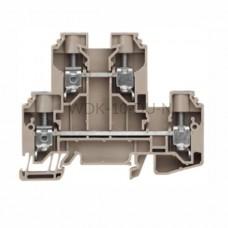 Złączka szynowa dwutorowa WDK 10 DU-N Weidmuller ciemnobeżowa 57A 800V 1415480000