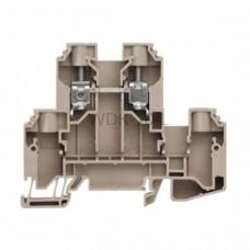 Złączka szynowa dwutorowa WDK 10 L Weidmuller ciemnobeżowa 57A 800V 1415510000