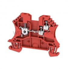 Złączka szynowa przelotowa WDU 2.5/1.5/ZR RT Weidmuller czerwona 24A 800V 1833830000