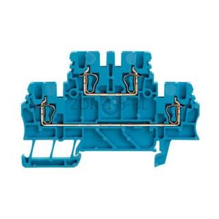 Złączka szynowa dwutorowa ZDK 1.5 BL Weidmuller niebieska 17,5A 500V 1791110000