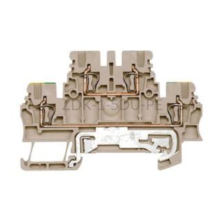 Złączka szynowa dwutorowa ZDK 1.5DU-PE Weidmuller ciemnobeżowa 17,5A 500V 1791120000