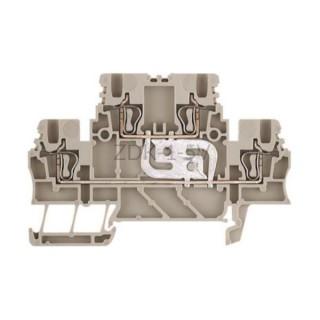 Złączka szynowa dwutorowa ZDK 1.5V Weidmuller ciemnobeżowa 17,5A 500V 1791130000