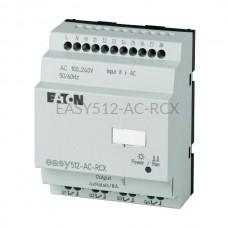 Przekaźnik programowalny EASY512-AC-RCX Eaton bez wyświetlacza tekstowego 100...240V AC 8 wej. 4 wyj. przekaźnikowe 274105