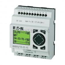 Przekaźnik programowalny EASY512-DC-RC Eaton z wyświetlaczem tekstowym 24V DC 8 wej. 4 wyj. 274109