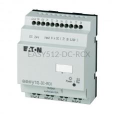 Przekaźnik programowalny EASY512-DC-RCX Eaton bez wyświetlacza tekstowego 24V DC 8 wej. 4 wyj. 274110