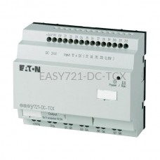 Przekaźnik programowalny EASY721-DC-TCX Eaton bez wyświetlacza tekstowego 24V DC 12 wej. 6 wyj. 274122