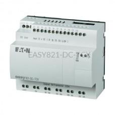 Przekaźnik programowalny EASY821-DC-TCX Eaton bez wyświetlacza tekstowego 24V DC 12 wej. 8 wyj. 256274