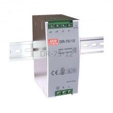 Zasilacz impulsowy na szynę Mean Well 230VAC 12VDC 6,3A DR-75-12