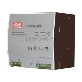 Zasilacz impulsowy na szynę Mean Well 230VAC 24VDC 10A DRP-240-24