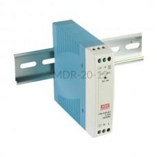 Zasilacz impulsowy na szynę Mean Well 230VAC 12VDC 1,67A MDR-20-12