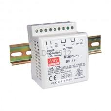 Zasilacz impulsowy na szynę Mean Well 230VAC 12VDC 3,5A DR-4512