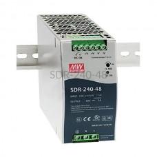 Zasilacz impulsowy na szynę Mean Well 230VAC 48VDC 5A SDR-240-48