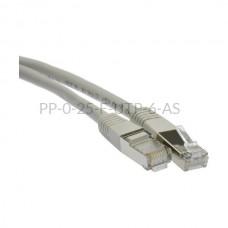 Patchcord ekranowany 0,25 m F/UTP kat.6 PP-0-25-F-UTP-6-AS