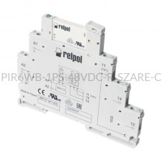 Przekaźnik elektromagnetyczny Relpol 1P 48VDC PIR6WB-1PS-48VDC-R (SZARE) (CE)