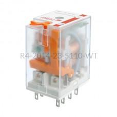 Przekaźnik elektromagnetyczny Relpol 4P 110VAC R4-2014-23-5110-WT