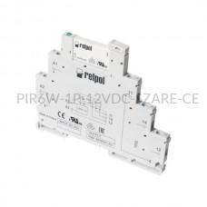 Przekaźnik interfejsowy-elektromagnetyczny Relpol 1P 12VDC PIR6W-1P-12VDC (SZARE) (CE)