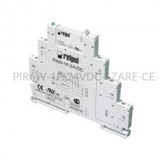 Przekaźnik interfejsowy-elektromagnetyczny Relpol 1P 24VDC PIR6W-1P-24VDC (SZARE) (CE)