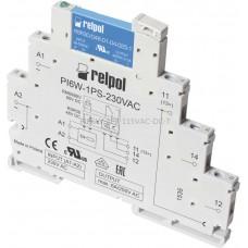 Przekaźnik interfejsowy-półprzewodnikowy produkcji Relpol 115VAC/VDC 1 styk PIR6W-1PS-115VAC-DC-T