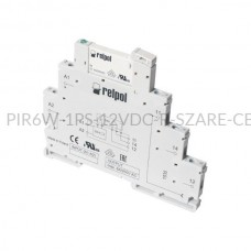 Przekaźnik interfejsowy-elektromagnetyczny Relpol 1P 12VDC PIR6W-1PS-12VDC-R (SZARE) (CE)