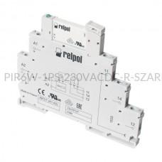 Przekaźnik interfejsowy-elektromagnetyczny produkcji Relpol 230VAC/VDC 1 styk PIR6W-1PS-230VAC/DC-R (SZARE)