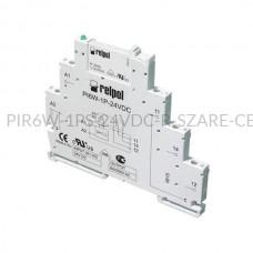 Przekaźnik interfejsowy-elektromagnetyczny Relpol 1P 24VDC PIR6W-1PS-24VDC-R (SZARE) (CE)