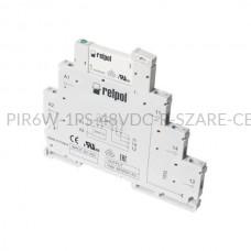 Przekaźnik interfejsowy-elektromagnetyczny Relpol 1P 48VDC PIR6W-1PS-48VDC-R (SZARE) (CE)