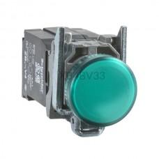 Kontrolka Schneider Electric o kolorze Zielony m 110...220VAC XB4BV33