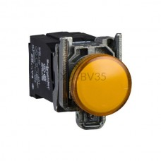 Kontrolka Schneider Electric o kolorze Żółtym 110...220VAC XB4BV35