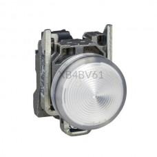 Kontrolka Schneider Electric o kolorze Białym 250VAC XB4BV61