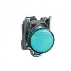 Kontrolka Schneider Electric o kolorze Zielonym 110...220VAC XB4BVG3