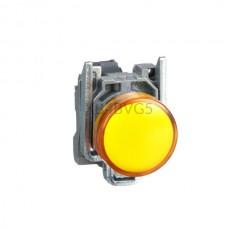 Kontrolka Schneider Electric o kolorze Żółtym 110...220VAC XB4BVG5