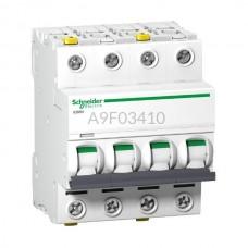 Wyłącznik nadprądowy Schneider Electric IC60N-B10-4 A9F03410 4P B 10 A