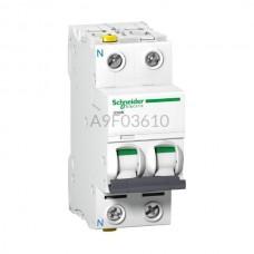 Wyłącznik nadprądowy Schneider Electric iC60N-B10-1N A9F03610 1P + N B 10 A